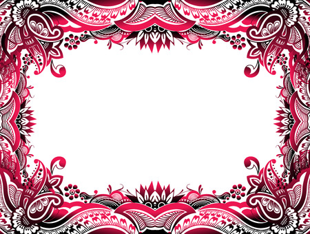 baroque border: abstract floral border background easy to edit of your project, vector illustration  Illustration