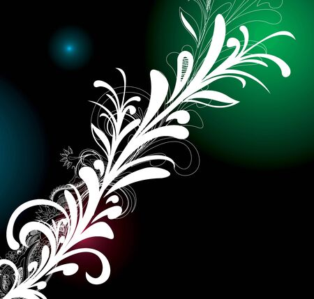 abstract floral background element for your design, vector illustration Stock Vector - 6691035