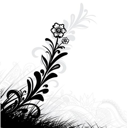 Floral grunge background with space of your text, vector illustration Stock Vector - 6691050