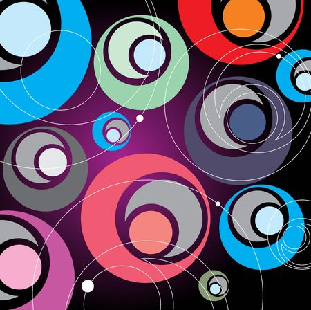 seamless retro pattern with circles, vector illustration Stock Vector - 6690976