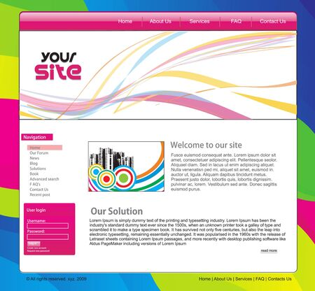 Web site design template this type more templates please see my profile. Vector illustration Stock Vector - 6691263
