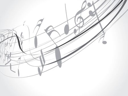 Musical wave line of musical notes, vector illustration  Vector