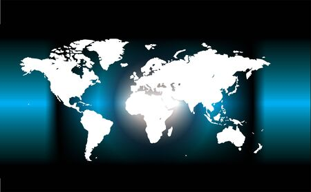 World map, Vector Illustration map ideal for business concepts, no mesh