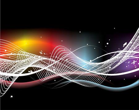 cable de red: Abstract ola l�nea de fondo con el espacio de su texto, ilustraci�n de vectores