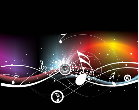 Music theme for more background of this type please visit my gallery, no mesh in this illustration Stock Vector - 6691354