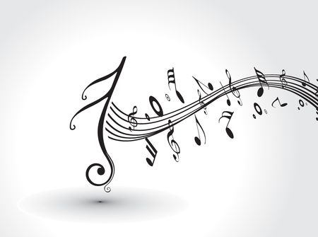Music notes for design use, vector illustration Stock Vector - 6691295