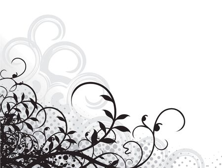 grunge ornate floral design with space of your text background, vector illustration, No mesh in this Vector Stock Vector - 6691301