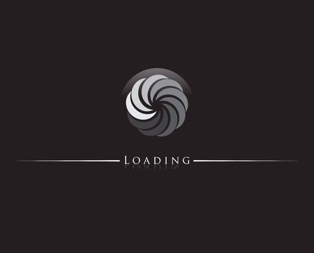 Round progress loading indicator. Vector illustration.
