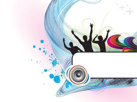 illustration on a musical theme with space of your text banner. Vector