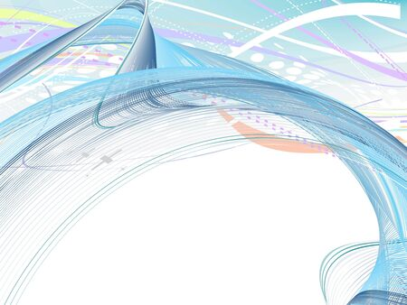 abstract wave lines background Vector