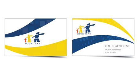 blank brochure: business card set, for more business card of this type please visit my gallery