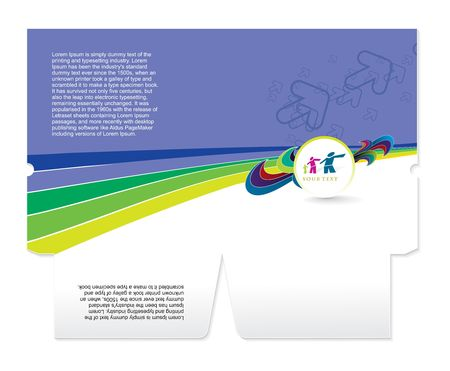 beat brochure: corporate folder die cut design, best used for your project.