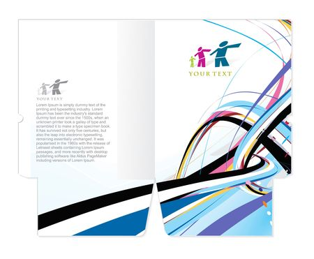 die cut: corporate folder die cut design, best used for your project.