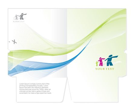 twist: corporate folder die cut design, best used for your project.