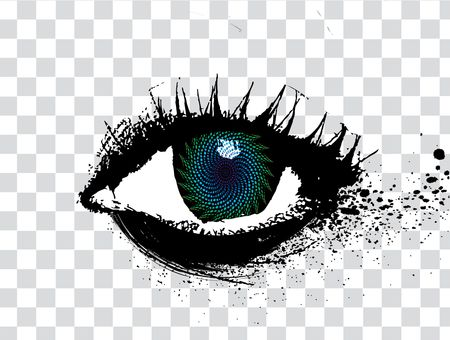 png: abstract grunge design of an eye, illustration
