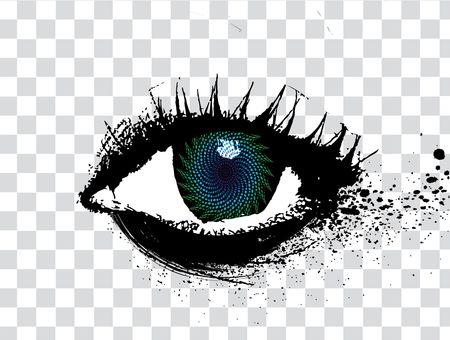 diseño de grunge abstracta de un ojo, ilustración