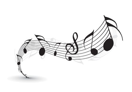 tunes: Music notes for design use,  illustration Illustration
