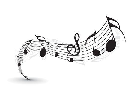 tune: Music notes for design use,  illustration Illustration