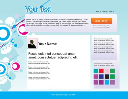 twitter themes website design template background,  illustration Vector