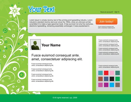 Twitter themes website design template background illustration twitter themes website design template background illustration stock vector 6978585 maxwellsz