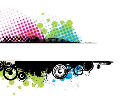 Grunge stylish banners with space of your text,  illustration. Stock Vector - 6978619