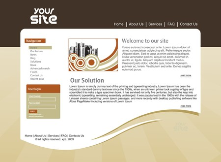 web site: abstract business web site design template,  illustration.