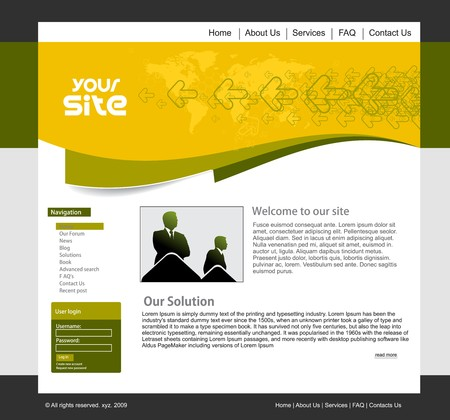 abstract business web site design template, illustration.