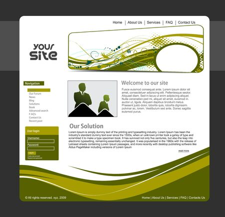 internet page site: abstract business web site design template,  illustration.