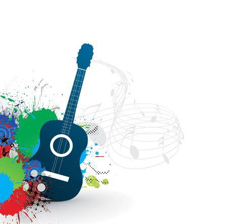 acustica: tema di musica con arcobaleno astratto colore sfondo, illustrazione.  Vettoriali