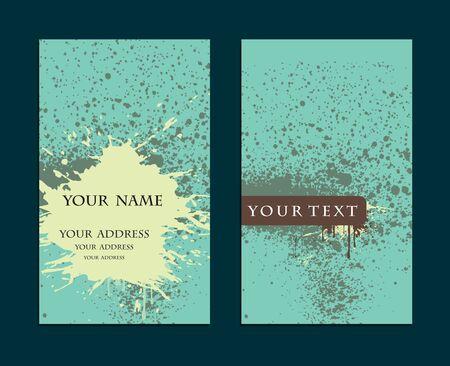 vector grunge business card set , elements for design.  Vector