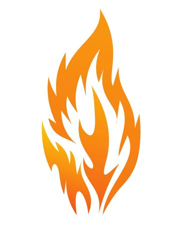 warmth: fire icon on a white background, vector illustration Illustration