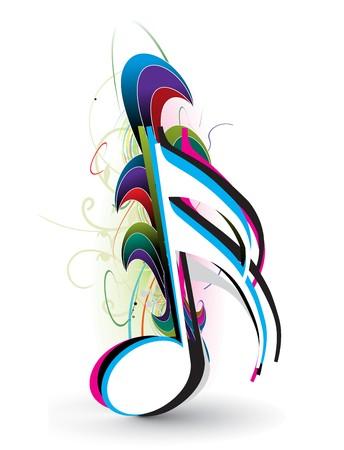 clave de fa: Notas de m�sica de onda abstracta para uso de dise�o, ilustraci�n