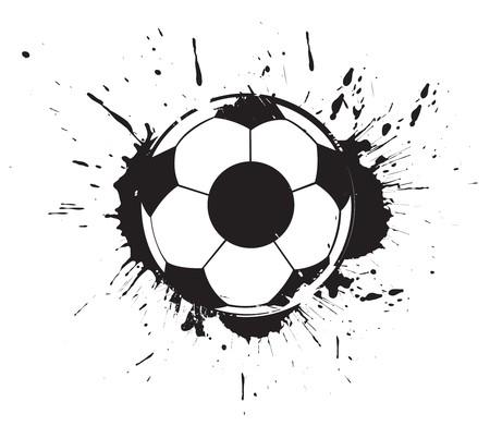 abstract grunge ink splate football,  illustration. Stock Vector - 7133344