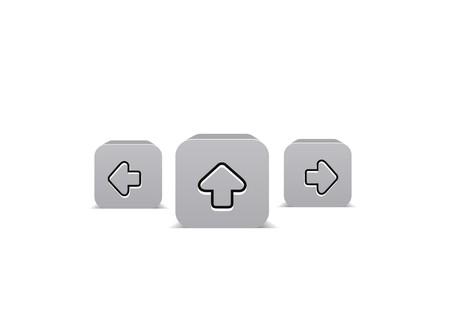 3D glossy arrow Icon, illustration  Stock Vector - 7133047