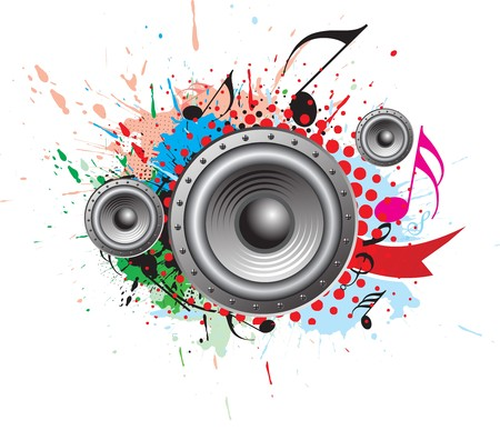 abstract grunge music theme for more  background. Stock Vector - 7133398