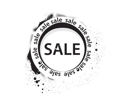 grunge sale banner, shopping concept grunge vector Illustration Stock Vector - 7153046
