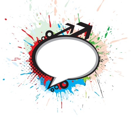 chat window: messenger window grunge icon vector illustration isolated on white background.
