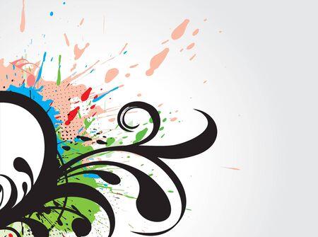 abstract grunge floral design background, vector illustration. Vector