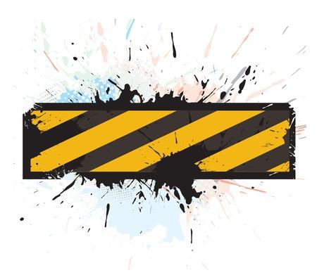 blocco stradale: grunge in costruzione per pagina web internet, illustrazione vettoriale  Vettoriali