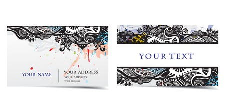 graphics card: vector business card set, for more business card of this type please visit my gallery . Illustration