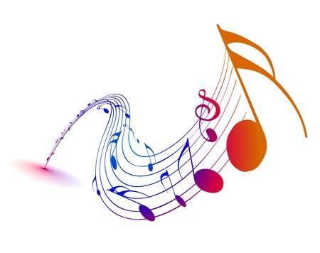 Muziek notities voor ontwerp gebruiken, vectorillustratie