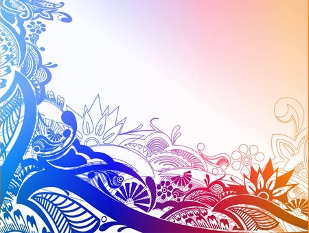 peacefull: modern floral elements with abstract shapes. vector illustration,