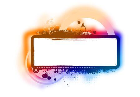 splashed: Grunge banner splashed on retro background, vector illustration.
