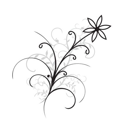 abstract flower fantasy vector illustration with best design of your projet,