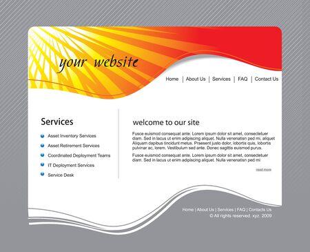 web site design: Web site design template, vector illustration.