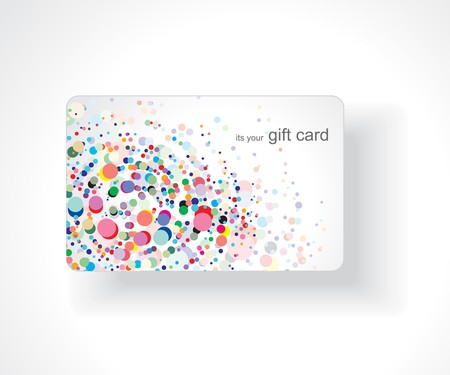 Beautiful gift card, vector illustration. Illustration