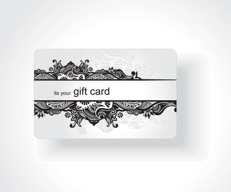 business event: Beautiful gift card, vector illustration. Illustration