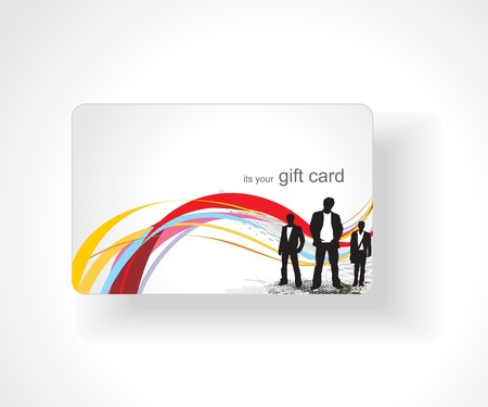 Tarjeta de regalo hermoso, ilustración vectorial.