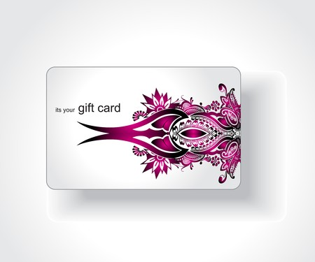tatto: Beautiful gift card, vector illustration.