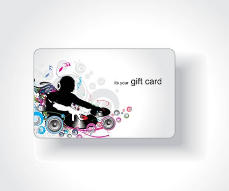 business event: Beautiful gift card, vector illustration.